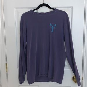 Tops - Purple lobster long sleeve